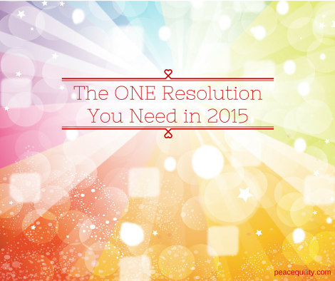 TheONE Resolution You NeedFor 2015 (1)