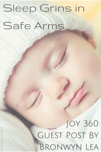 Sleep Grins in Safe Arms