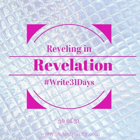 Reveling in Revelation No. 30