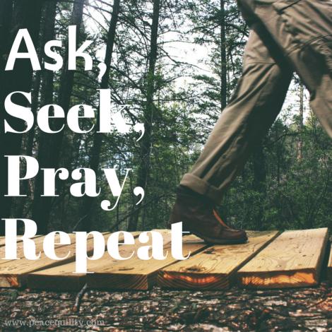 Ask, Seek, Pray Repeat